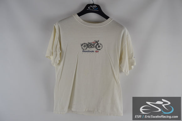 Reebok Rbk Classic Motorcycle White Men's Medium T-Shirt