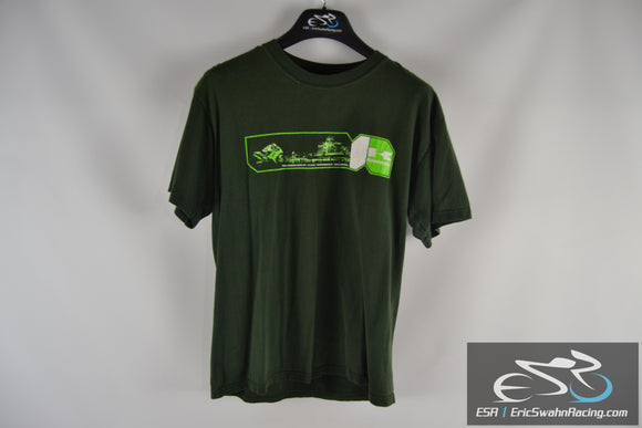 Green Kawasaki Motorcycle Men's Medium T-Shirt