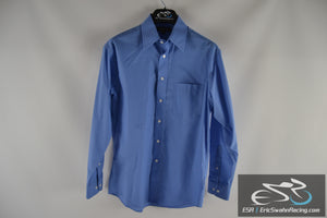 Croft & Barrow Blue Men's 15 32/33 Button Up Dress Shirt