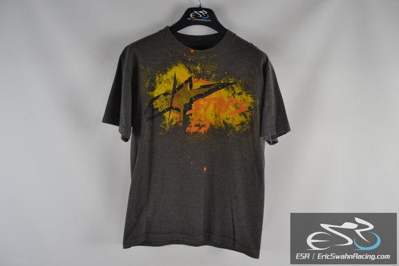 Alpinestars Classic Fit Grey / Yellow / Orange Men's Medium T-Shirt