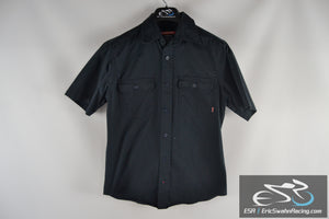 Craftsman Dark Blue Men's Medium 38-40 Collared Button Up Short Sleeve Shirt