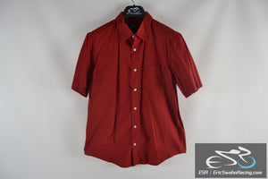 Cherokee Red Men's Medium Collared Short Sleeve Button Up Shirt