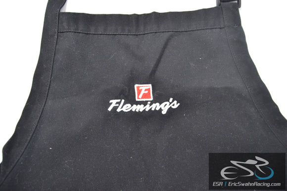Fleming's Black Apron Chef Works Kitchen Unisex One Size Adjustable