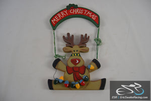 Merry Christmas Reindeer Ornament Holiday Decoration Studio 33 1998