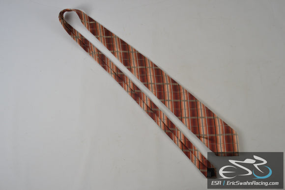 Alfani Striped Red Orange Grey White Men's Neck Tie