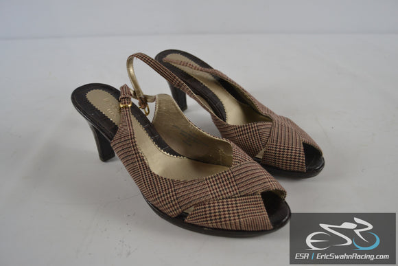 Liz Claiborne Brown / Red / White Flex Women's Size 8 Shoes Heels