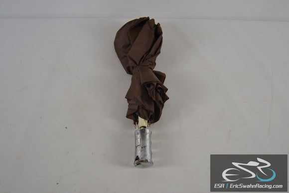 Brown Umbrella With Silver Handle