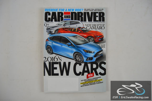 Car And Driver Magazine - New Cars For 2016 V61.3 September 2015