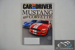 Car And Driver Magazine - Mustang Beats Corvette V61.8 February 2016