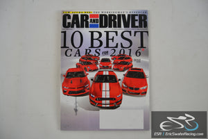 Car And Driver Magazine - 10 Best Cars For 2016 V61.7 January 2016