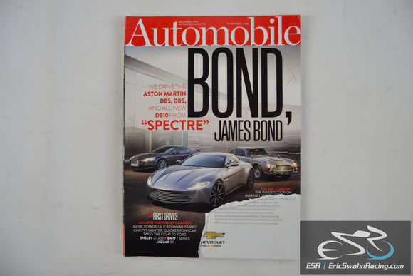 Automobile Magazine - James Bond Aston Martins V30.9 December 2015