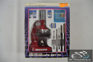 EDU Science 750X 450X 100X Microscope Set With Light with Original Box