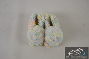 Newborn Baby Infant Boy Crochet Knit Bright Multicolored Casual Shoes Slippers