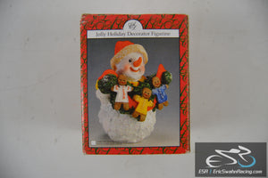 Jolly Holiday Decorator Figurine - Christmas Snowban Artmark