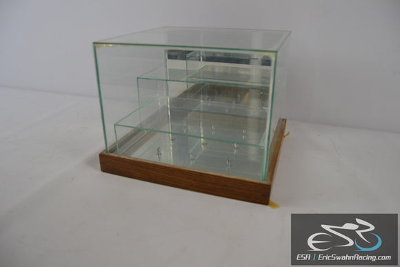 Homemade Custom Tiered Display Case For Crystal Glass Animals or Figurines
