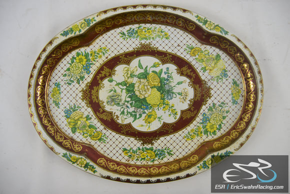 Vintage Decorative Plate / Tray Daher Decorated Ware Made In England 1971