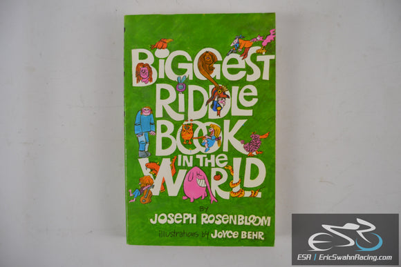 Biggest Riddle Book in the World Joseph Rosenbloom Paperback Book 1976