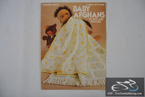 Baby Afghans - To Knit And Crochet-  Leisure Arts Leaflet 1976