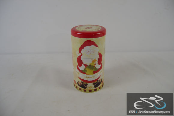 Santa Holiday Christmas Tin Red / White - Three Stage Cannister