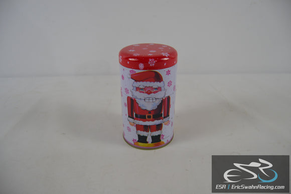 Nutcracker Holiday Christmas Tin Red / White - Three Stage Cannister