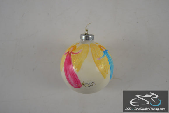 Holiday Christmas Ornament Custom Angels Pink, Blue, Green Limmie 2015
