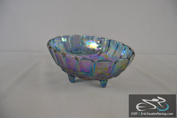Iridescent Decorative Glass Bowl Dining Dish