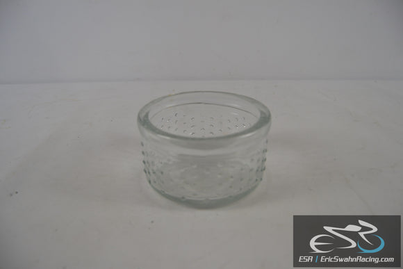 Clear Glass Bowl with Raised Points on the Side 5x3