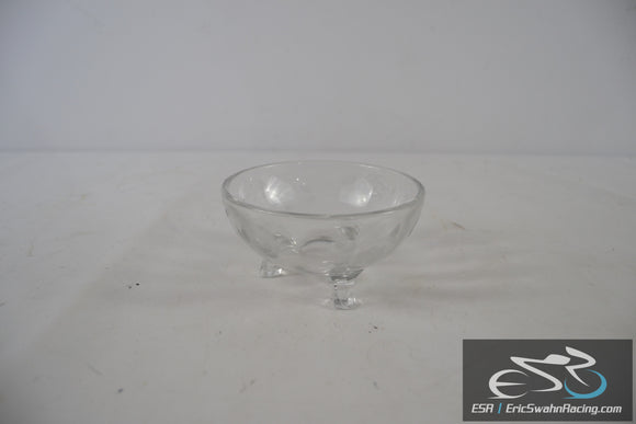 Decorative Glass Candy Dish Bowl  With Flower Etched