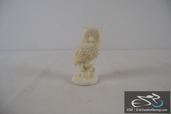 White Italian Made Ceramic Owl Statue Figurine 5.5x3