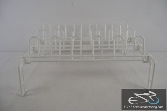White Plastic Shoe Organizer - Fits 9 Pairs of Shoes