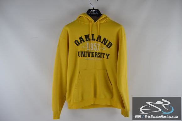 Oakland University Champion Authentic Apparel Women's Medium Yellow Hoodie
