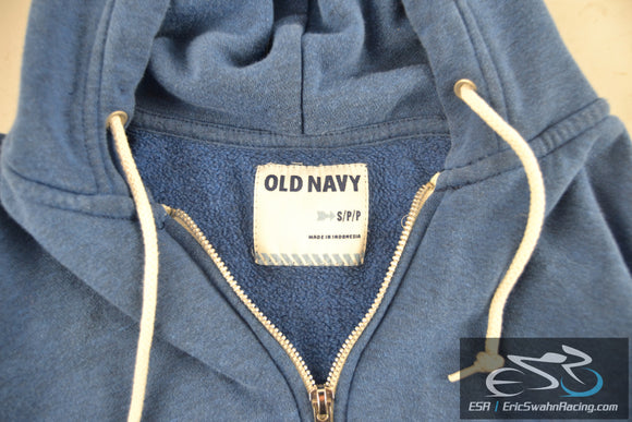 Old Navy Women's Small Blue Zippered Hoodie