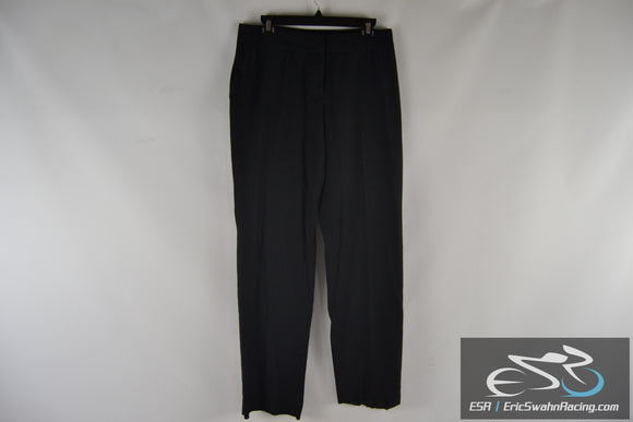 Doc & Amelia by Cintas Women's Black Pinstriped Dress Pants Size 8