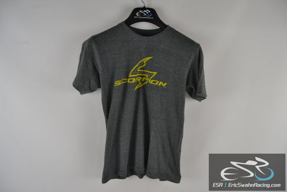 Scorpion Exo USA Motorcycle  Grey / Yellow Unisex T-Shirt Medium Shirt