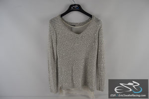 Apt. 9 Woman's Grey  Medium Top Blouse with Sequins and Undershirt