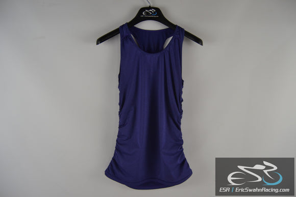 Purple Sleeveless Women's Medium Athletic Top With Ruching - Unbranded