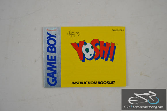 Yoshi Nintendo Game Boy Instruction Booklet DMG-YO-USA-2 1992