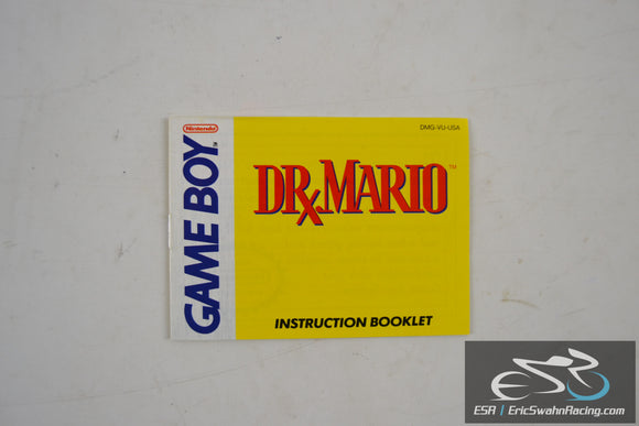Dr. Mario Nintendo Game Boy Instruction Booklet DMG-VU-USA 1990