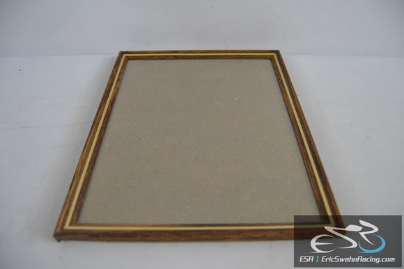 Gold and Wood Picture Frame Wall or Desk Fits 9 x 7