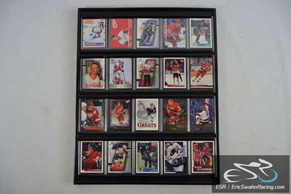 NHL All Stars Hockey Cards In Display Case 20 Cards Total