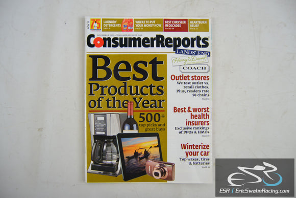 Consumer Reports Magazine - Best Products of the Year Vol 76.11 November 2011