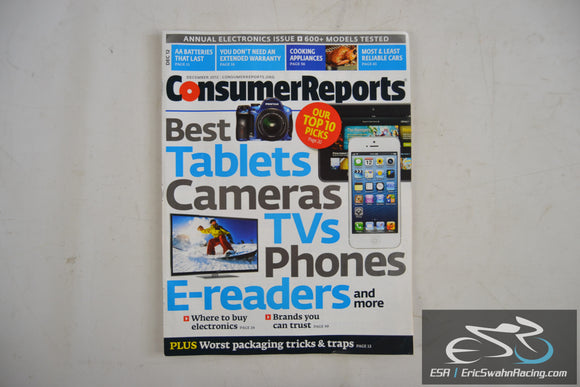 Consumer Reports Magazine - Best Tablets Cameras TVs Phones Vol 77.12 Dec 2012