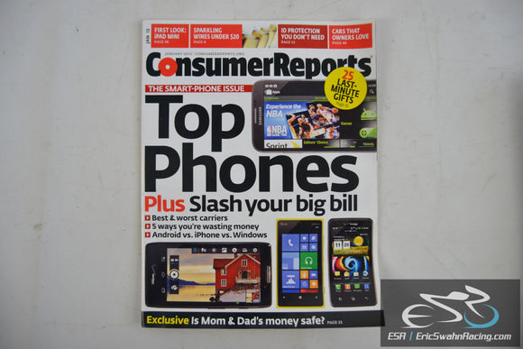 Consumer Reports Magazine - Top Phones Vol 78.1 January 2013