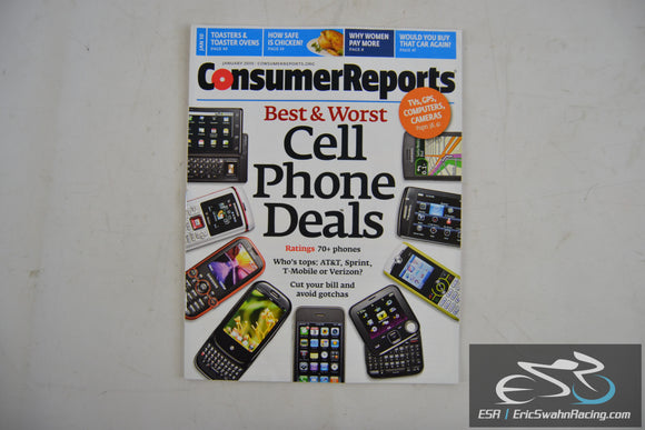 Consumer Reports Magazine -  Cell Phone Deals Vol 75.1 January 2010
