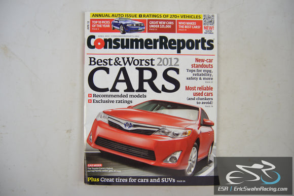 Consumer Reports Magazine - Best & Worst 2012 Cars Vol 77.4 April 2012