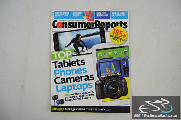 Consumer Reports Magazine - Top Tablets Phones Cameras Laptops V78.8 Aug 2013