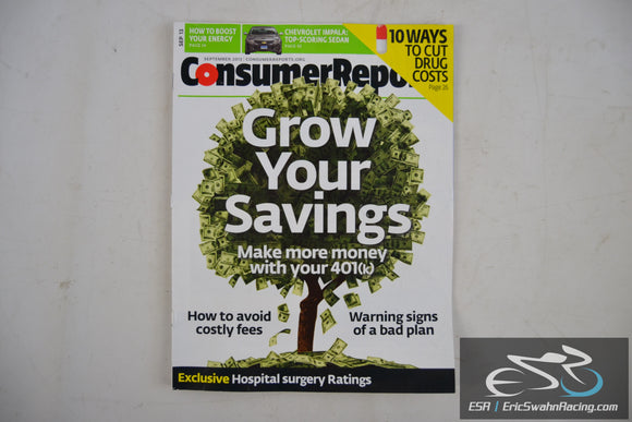 Consumer Reports Magazine - Grow Your Savings Vol 78.9 September 2013
