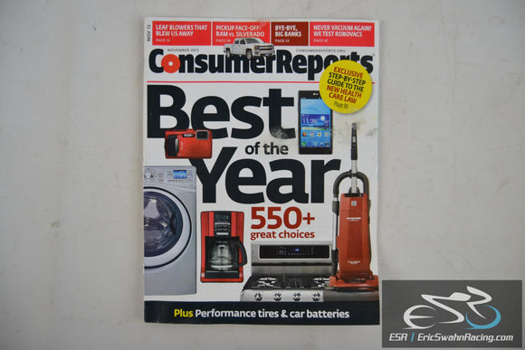 Consumer Reports Magazine - Best of the Year Vol 78.11 November 2013