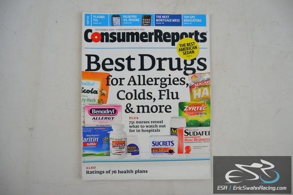 Consumer Reports Magazine - Best Drugs for Allergies, Colds, Flu V74.9 Sept 09