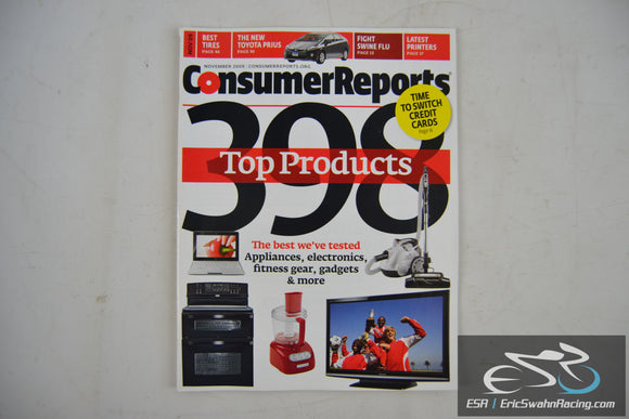 Consumer Reports Magazine - 398 Top Products Vol 74.11 November 2009